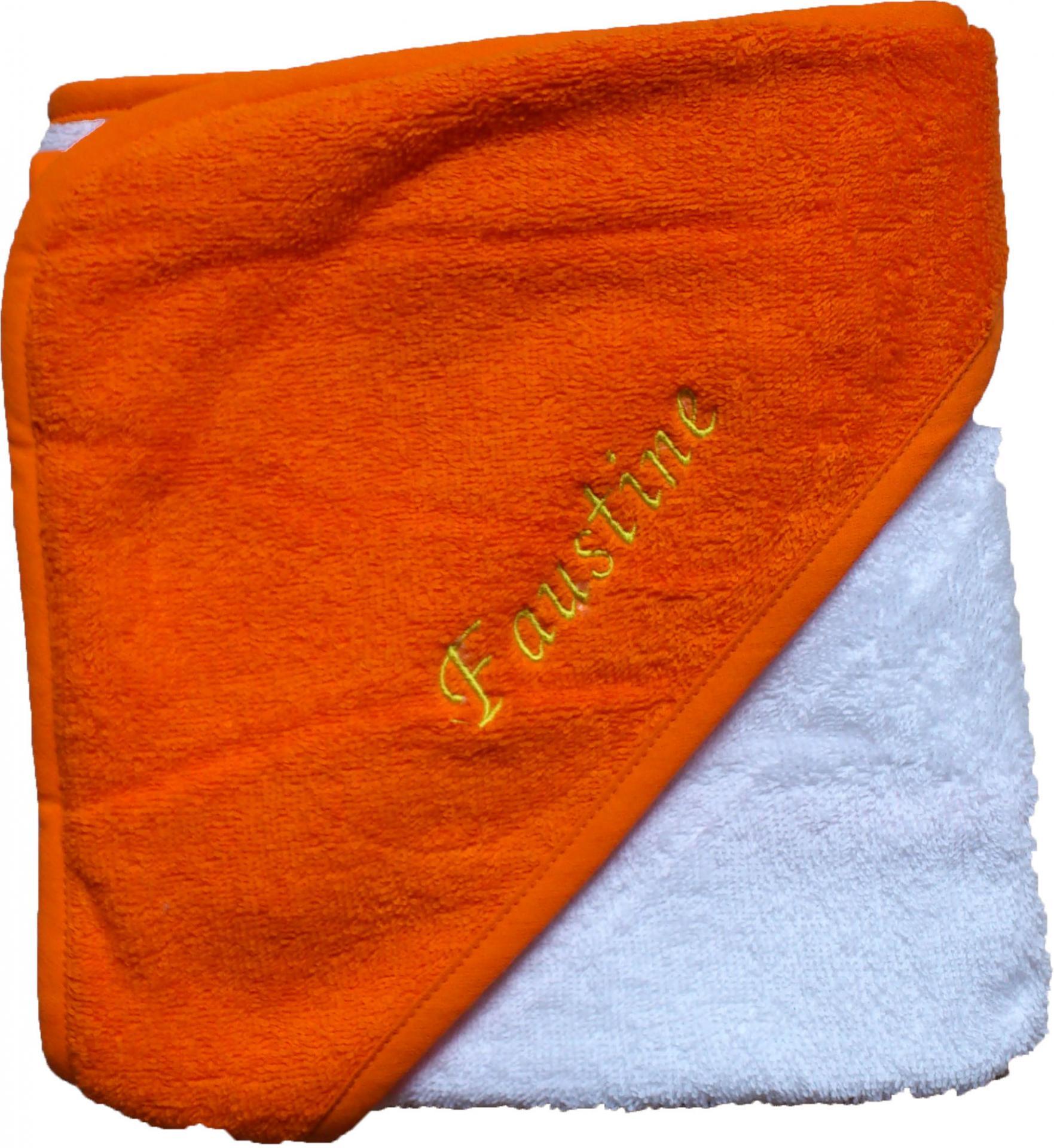 Cape de bain orange brode